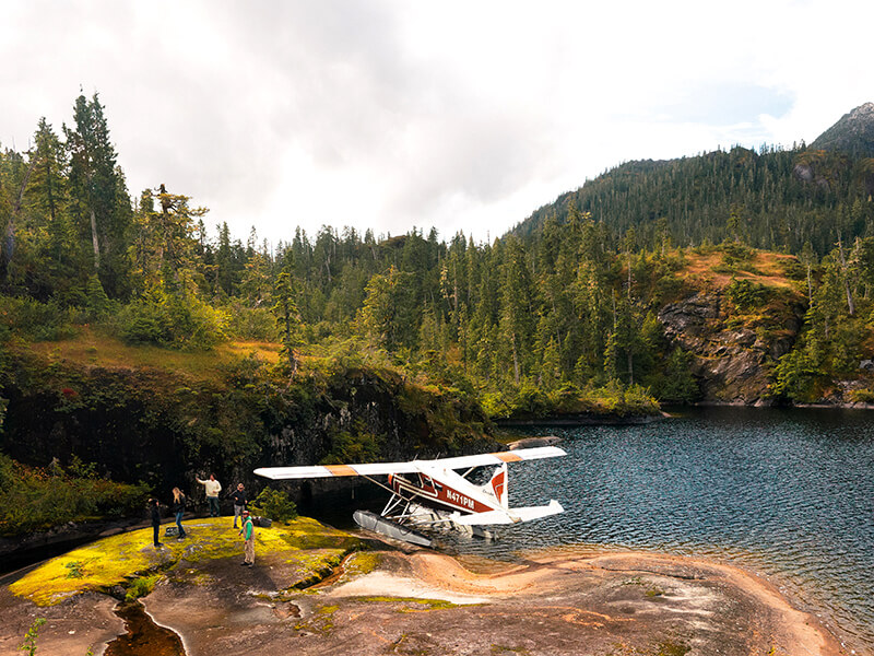 Float Plane in the Misty Fjords