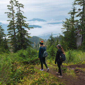 Hiking a trail in Tongass National Park