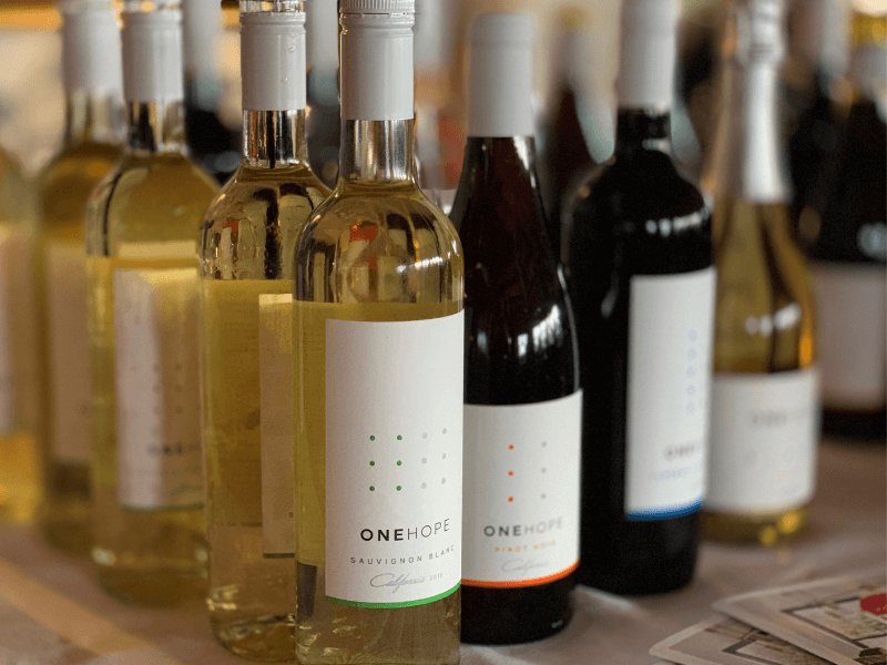 Wine on Display at OneHope Wine Dinner at Salmon Falls Resort